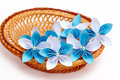 Paper flower in a basket Royalty Free Stock Image