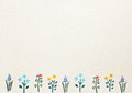 Paper with flower border for greeting card Royalty Free Stock Photo