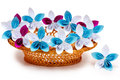 Paper flowers in a basket Royalty Free Stock Photos