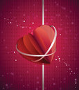 Paper folded heart Royalty Free Stock Photos