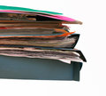 Paper folders isolated colorful document on white Stock Photography
