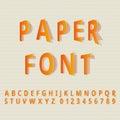 Paper font