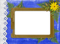 Paper frame with floral beautiful bouquet Stock Image