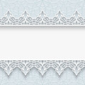 Paper frame with lace borders background ornamental lacy seamless Royalty Free Stock Photos