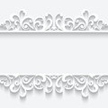 Paper frame with swirly border ornament Royalty Free Stock Photo