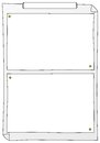 Paper frames vector illustration of some to write on Stock Images