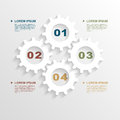 Paper gears infographic template with template for business presentation vector eps illustration Royalty Free Stock Photo