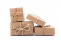 Paper gift box on white background Royalty Free Stock Photo
