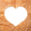 Paper heart background with copy space Royalty Free Stock Images
