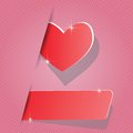 Paper heart colorful illustration with for your design Royalty Free Stock Photos