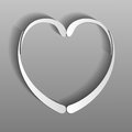 Paper heart from a pattern on gray background Royalty Free Stock Photos