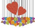 Paper hearts Royalty Free Stock Photography