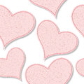 Paper hearts pattern Royalty Free Stock Photography