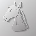 Paper horse head colorful illustration with for your design Royalty Free Stock Photo