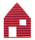 Paper house red on white background Royalty Free Stock Photo