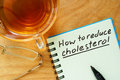 Paper with  How to reduce cholesterol. Royalty Free Stock Photo