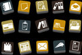 Paper Icon Set Stock Photography