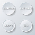 Paper icons illustration of buttons set business Royalty Free Stock Photography