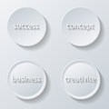 Paper icons illustration of buttons set business Royalty Free Stock Images