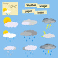 Paper icons weather Royalty Free Stock Photo
