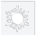 Paper label with shadow decorative frame on white background Royalty Free Stock Image