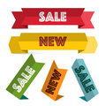 Paper Labels Set. Retro Sale and New Tags. Royalty Free Stock Photo