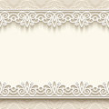 Paper lace background frame with seamless borders over ornamental Royalty Free Stock Photography