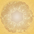 Paper lace on beige background abstract pattern looks as cut flower old Stock Photos