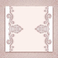 Paper lace card with cutout borders