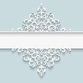 Paper lace divider frame