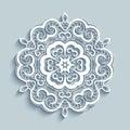 Paper lace doily, cutout round pattern