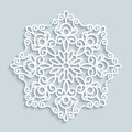 Paper lace doily, round crochet ornament