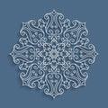 Paper lace doily, round crochet pattern