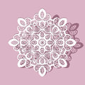 Paper lace doily, round ornament