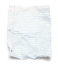 Paper Lined Crushed Royalty Free Stock Photo