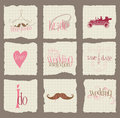 Paper Love and Wedding Design Elements Royalty Free Stock Image