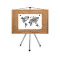 Paper with map clip to cork board on tripod Royalty Free Stock Photography
