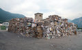 Paper mill plant paper and cardboard for recycling waste this is a factory devoted to making from recycled using this Stock Photo