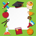 Paper note and school icons set . Royalty Free Stock Photo