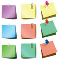 Paper notes Royalty Free Stock Images