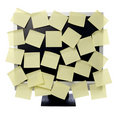 Paper notes on computer monitor Royalty Free Stock Photo