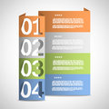 Paper options template eps vector illustration Stock Image