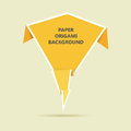 Paper origami background vector illustration of yellow Stock Image