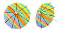 Paper parasols Stock Photos