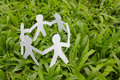 Paper people in a circle. Royalty Free Stock Photo