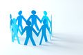 Paper people forms a circle Royalty Free Stock Photo