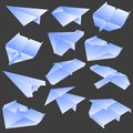 Paper plane collection Royalty Free Stock Photos