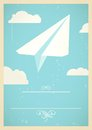 Paper plane concept with flying in the sky eps blend mode used Stock Photos
