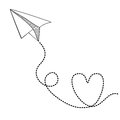 Paper plane design over white background vector illustration Stock Image