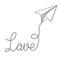 Paper plane design over white background vector illustration Stock Images
